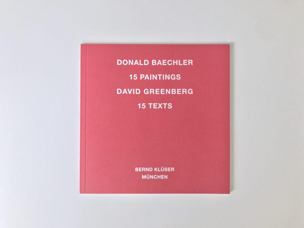 Donald Baechler, Publikation