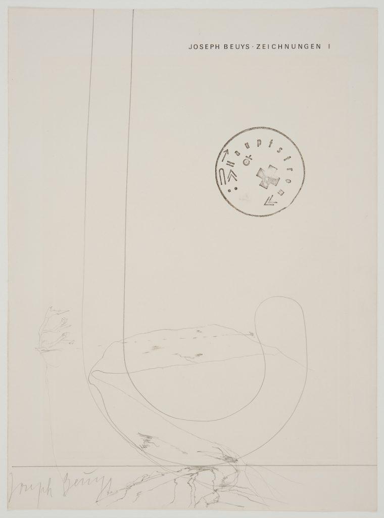 Joseph Beuys, Kunst, Zeichnung, Unikat