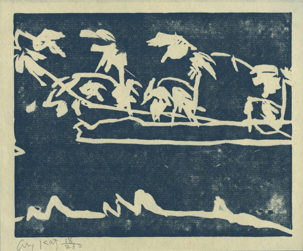 Alex Katz, woodcut, Holzschnitt, Edition