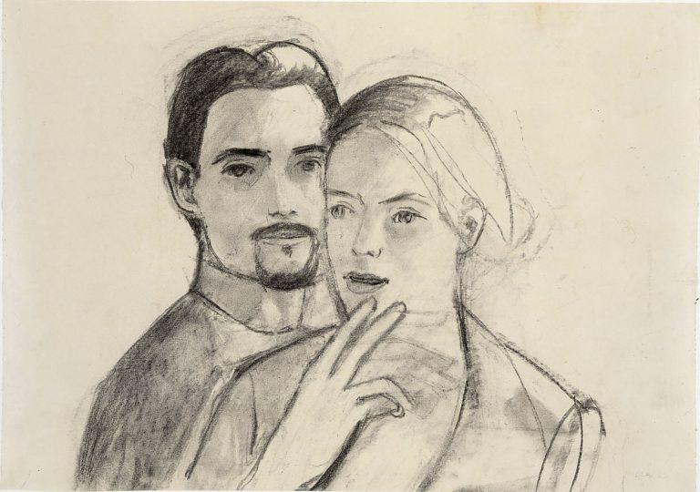Alex Katz, Papierarbeit, Zeichnung
