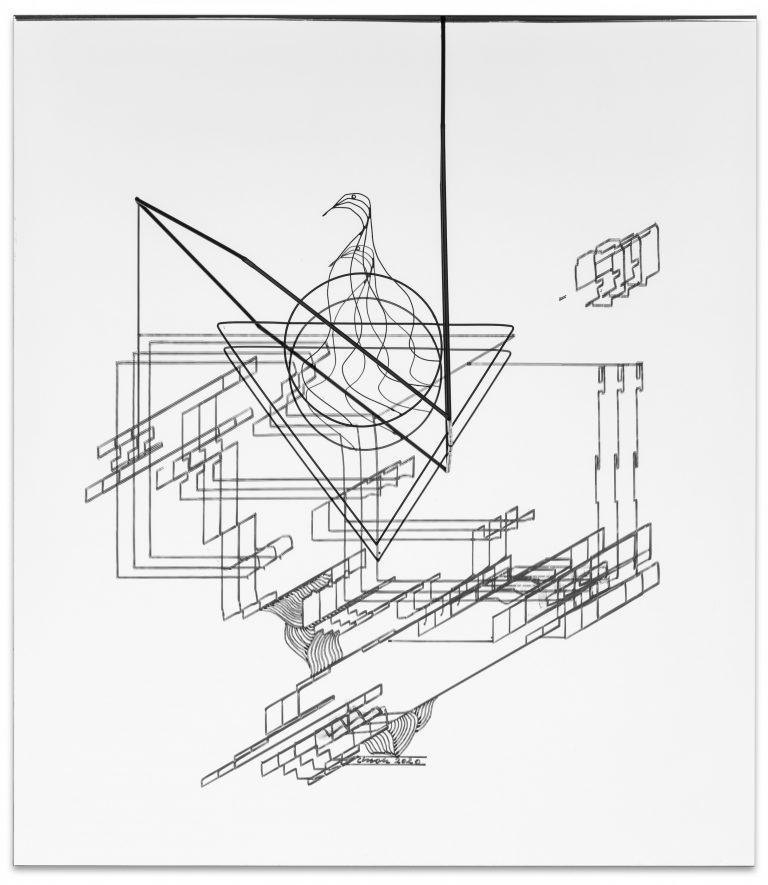 Constantin Luser, mirror, brass