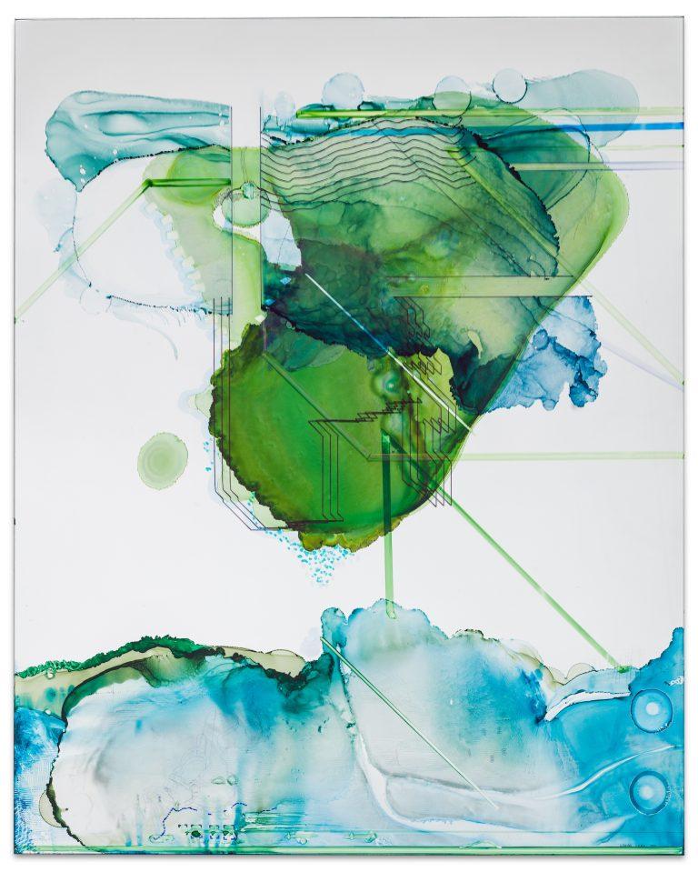 Constantin Luser, watercolor, mirror