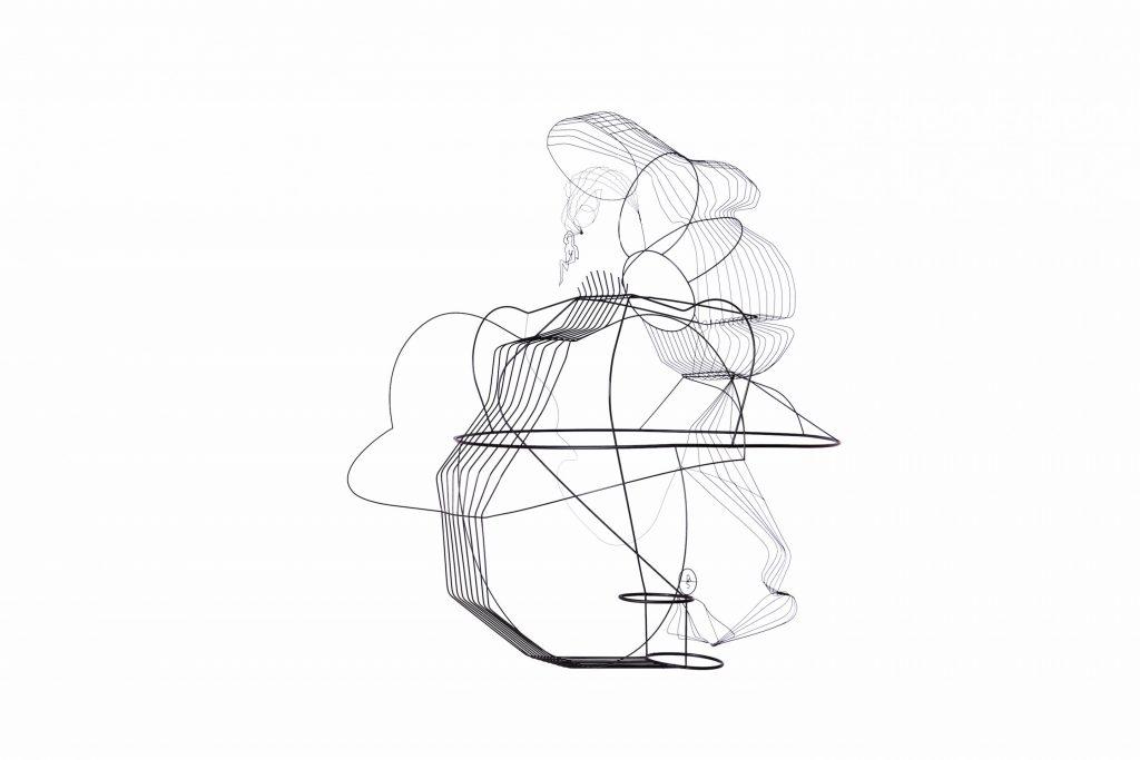 Constantin Luser, Detail, Skulptur, Messing