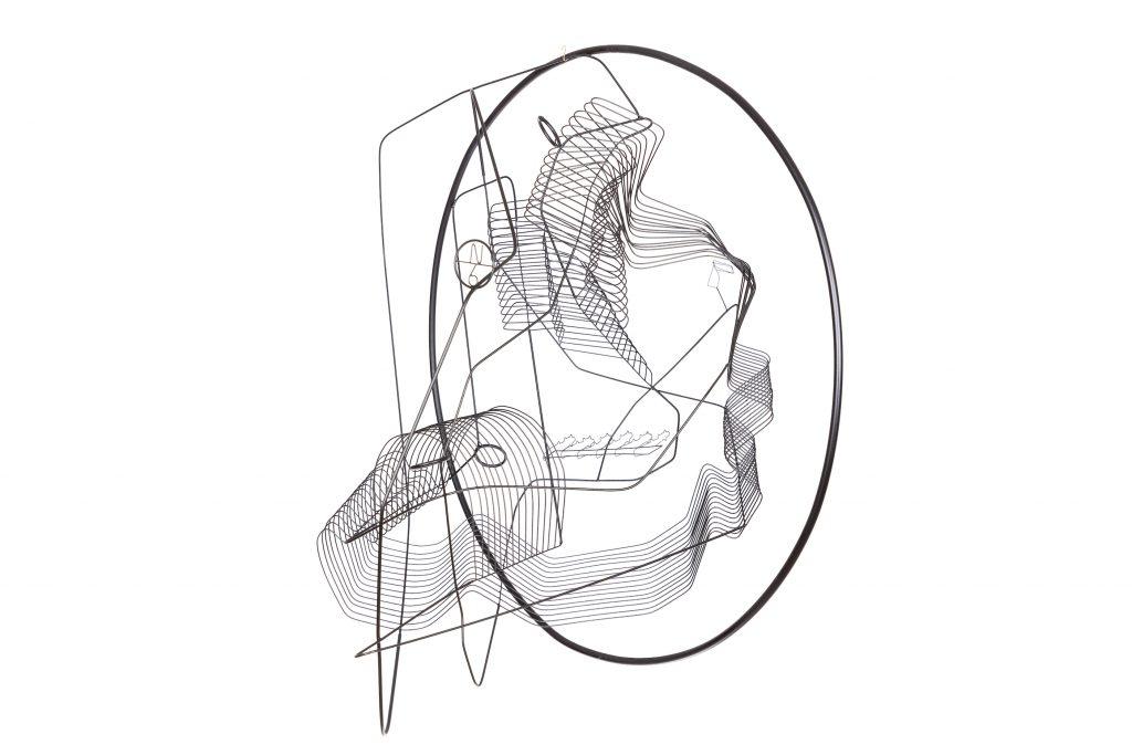 Constantin Luser, Skulptur, messing, draht