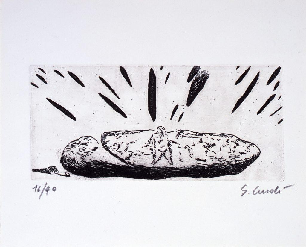 Enzo Cucchi, Grafik