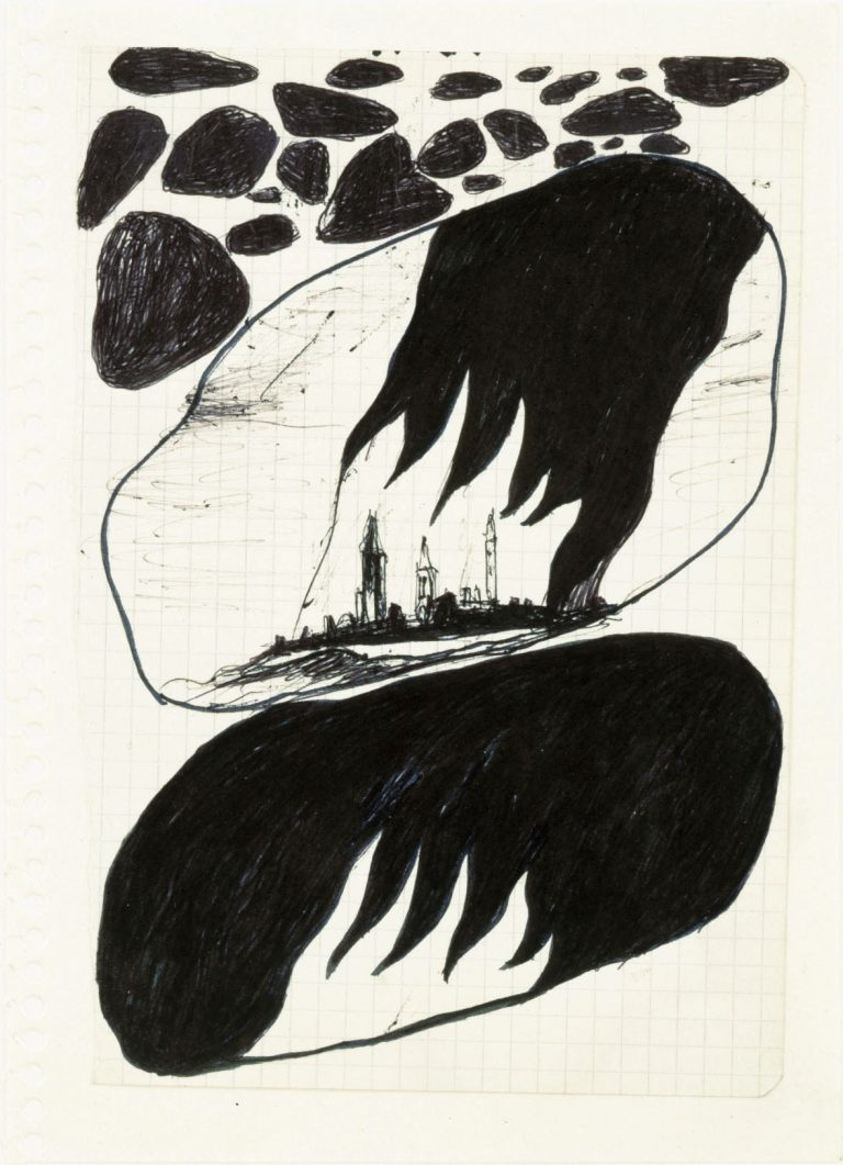 Enzo Cucchi, Papierarbeit, Unikat, Original