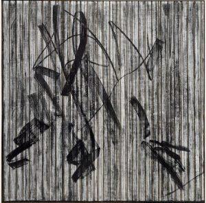 Gregor Hildebrant, canvas, VHS, film tape, painting