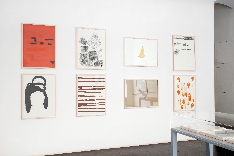 Joseph Beuys, Spur II Blatt E A F B H I D C, 1977