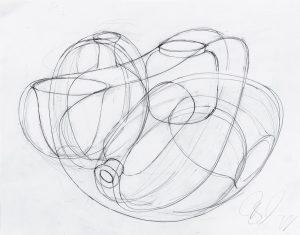 Tony Cragg, 2019, Zeichnung, Papier