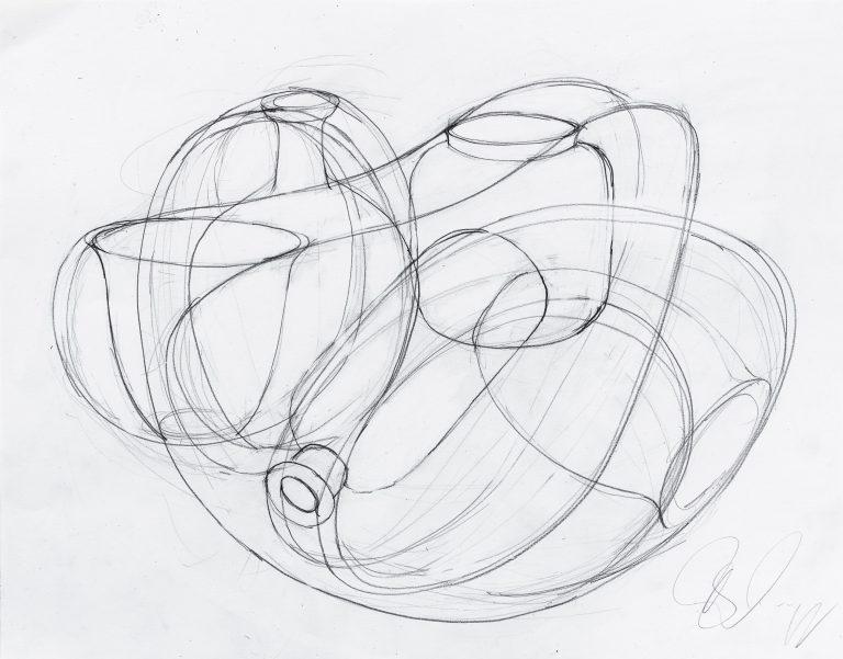 Tony Cragg, 2019, drawing