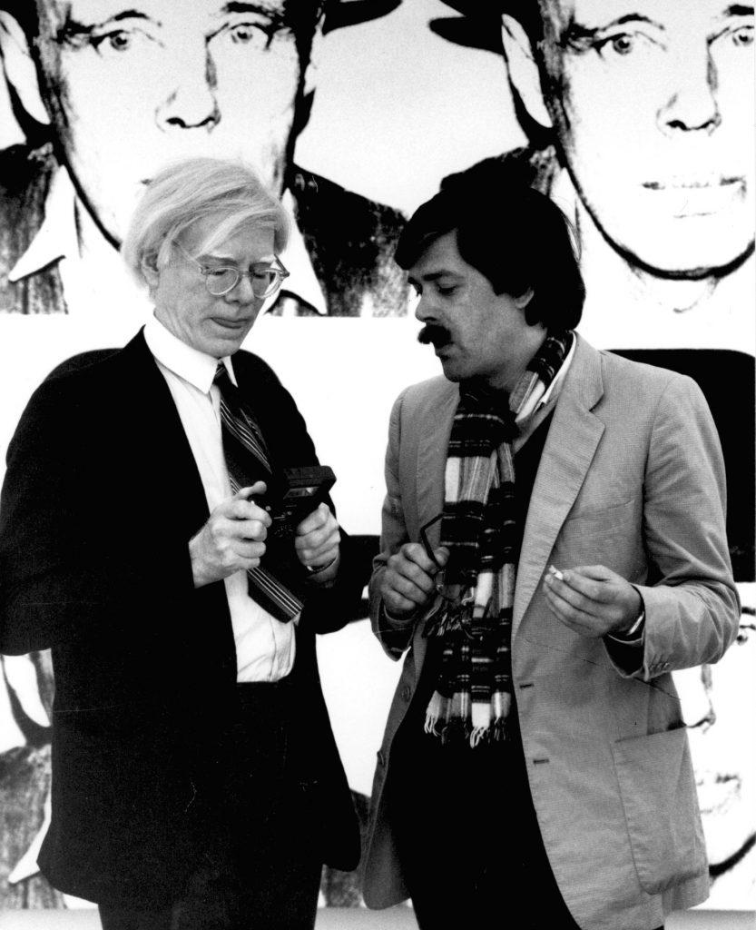 Bernd Klüser & Andy Warhol; Schellmann und Klüser 1980, © Angela Neuke